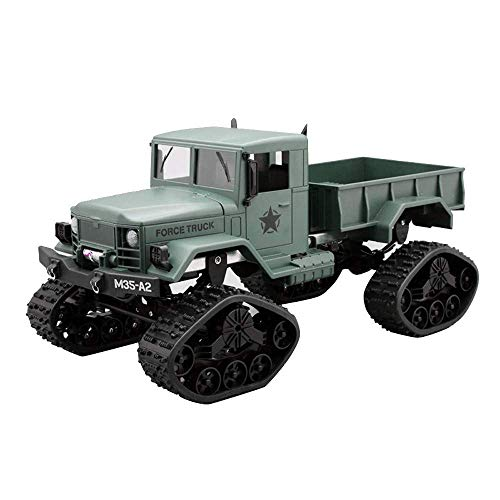 RC Cars, 1:16 Scale RC Military Truck, 4WD 2.4GHz Off-Road Remote Control Army Armored Car, High Speed Electric Vehicle with Led Light RC Truck for Kids Adults RTR, Children Gift for Birthday (Green)