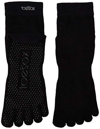 Toe Sox Yoga-Mad, Zehensocke mit 5 Zehen XL schwarz