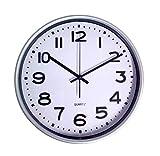 1a-Handelsagentur Reloj de pared de 30 cm, para cocina, salón, baño, cuarzo, reloj de estación