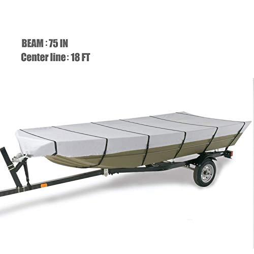 GOODSMANN Marine Grade Heavy Duty 300D Jon Boat Covers, Fits 18ft Length, Beam Width to 75'' Boats 9921-0152-24