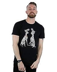 Disney hombre 101 Dalmatians Classic Pongo and Perdita Camiseta