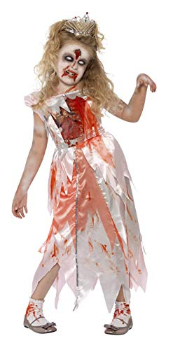 Smiffy'S 44283S Disfraz De Princesa Durmiente Zombi Con Vestido Y Dibujo En El Pecho, Rosado, S - Edad 4-6 Aos