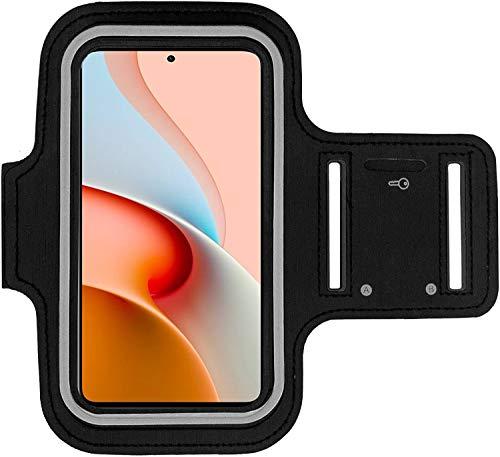 Xiaomi Redmi Note 9 Pro 5G Brazalete Case - para correr, ciclismo, senderismo, canoa, caminar, equitación y otros deportes para Xiaomi Redmi Note 9 Pro 5G (Negro)
