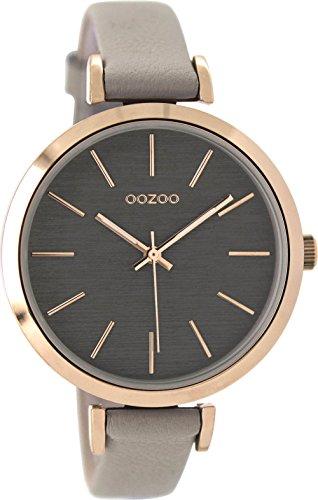 OOZOO Timepieces Damenuhr Leder/Sonstige analog Quarzwerk Lederband C9135