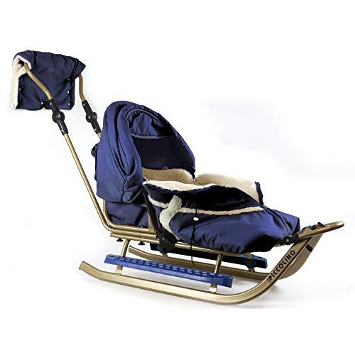 Kinderschlitten Babyschlitten Piccolino Gold Granatblau (Komfort)