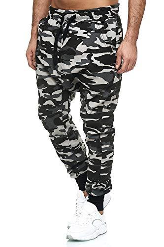 Tazzio Herren Jogginghose im Haremstil P-501 (M, Camouflage-Grau)