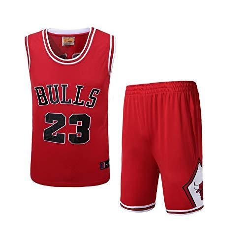 XIAOL NBA Jersey pak 23 heren sport basketbal uniform - stieren Jordan #23 / geborduurd basketbal truien jongens en meisjes liefhebbers
