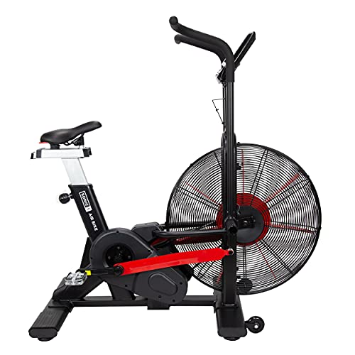 JLL Sonic 1 Air Bike, Air Resistance, Assault Bike, LCD Display, 7 Function Monitor, Watt Programs, Tablet Holder, Workout, HIIT