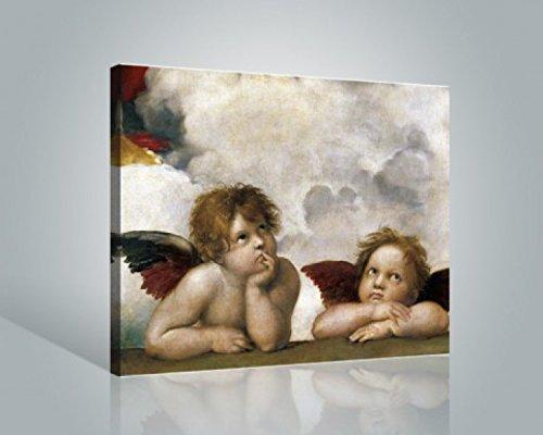 1art1 Raphael - Raffaels Engel (Detail) Bilder Leinwand-Bild Auf Keilrahmen   XXL-Wandbild Poster Kunstdruck Als Leinwandbild 50 x 40 cm