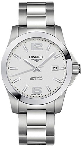 Longines orologio Conquest 41mm argento acciaio uomo automatico...