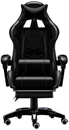 Bürostuhl Bluetooth Speaker Gaming Chair, Computerspielstuhl Mit Hoher Rückenlehne Im Verstellbaren Stil Verstellbarer Liegestuhl Bürostuhl Liege, Kopfstütze Und Massage Lordosenstütze Verbindungsarm