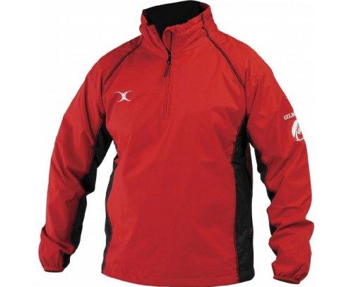 GILBERT Veste Coupe-Vent pour Homme, Rouge/Noir, XL