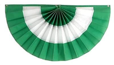 Irish Flag Banner by Independence Bunting - American Made St. Patrick's Day Decorations! Get a little Luck of the Irish with our Fully Sewn Irish Bunting