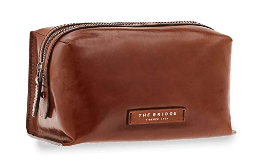 NECESSAIRE THE BRIDGE KALLIO COSMETIC BAG 09130701 1A MARRONE