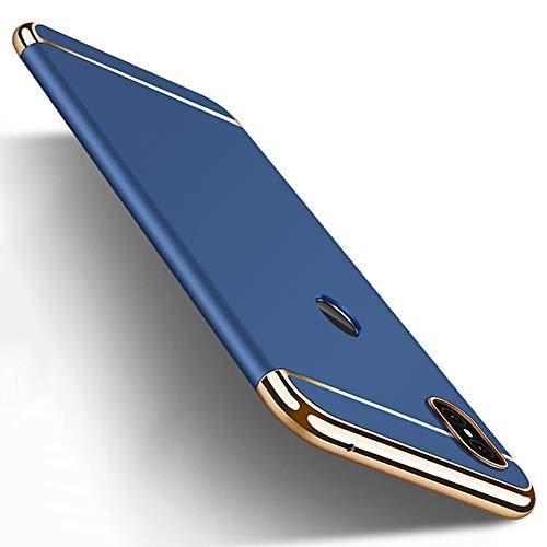 Xiaomi Mi Max 3 Hülle, Midcas 3-in-1-Kombination Hart Schalen Beschichtet Anti-Fingerabdruck rutschfeste Matte Oberfläche Überzug Rahmen Schutzhülle für Xiaomi Mi Max 3 Blau