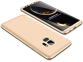 Samsung Galaxy S9 Case, ultra Slim Gkk 360 Protection Cover Case - Gold