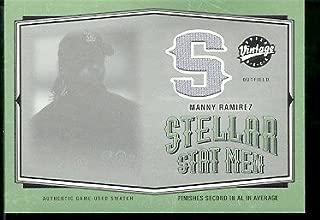 2004 Upper Deck Vintage Stellar Stat Men Manny Ramirez Game Used Jersey Boston Red Sox Baseball Card - Mint Condition