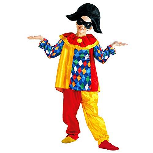 Widmann wdm38607 ? Costume pour Enfants Arlequins (140 cm/8 ? 10 Ans), Rouge, XS