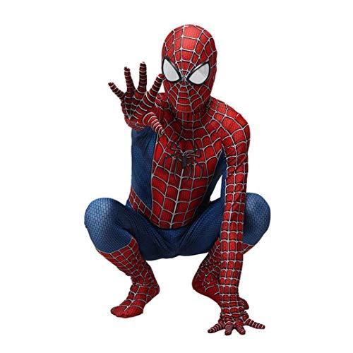 GHH Spiderman Kostüm Kinder Cosplay Spiderman Kostüm Herren Homecoming Kostüm Halloween Karneval Spiderman Anzug Spandex/Lycra 3D Druck,110~120cm
