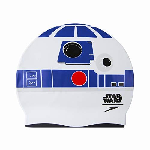 Speedo R2-D2 Junior Gorra, Infantil, Blanco y Azul, Talla única