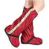 Couvre-chaussures de vélo réfléchissants imperméables, coupe-vent coupe-vent couvre la chaussure de bottes de pluie pluie neige protecteur pieds guêtres VTT chaussures de vélo de vélo couverture pour