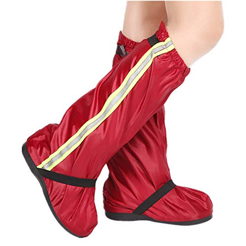 Waterproof Raincoat Waterproof Reflective Cycling Shoe Covers, Windproof Bicycle Lock Overshoes Rain Snow Boot Protector Feet Gaiters MTB Bike Bicycle Shoes Cover for Men and Women Bike Shoes Cover, U