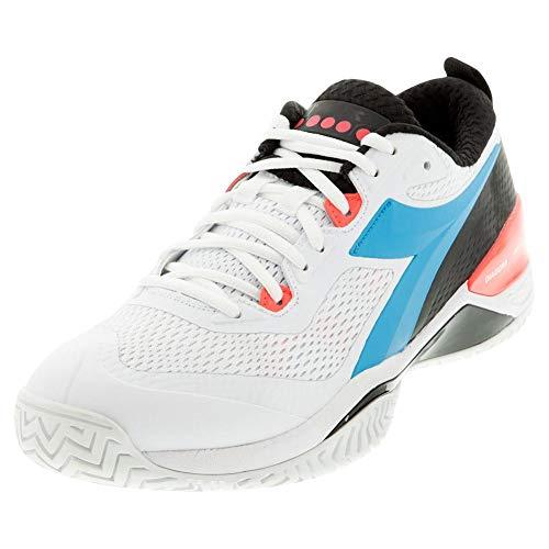 Diadora Speed Blushield 4 AG Mens Tennis Shoe - White/Blue - Size 10