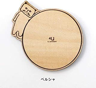 木製 ネコ コースター 猫 ねこ ウッド グラス置き キッチン プレート グッズ インテリア コップ置き かわいい 動物 アニマル おしゃれ