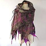 Vcnhln Sciarpa Invernale da Donna con Frange Stampate Sciarpa Quadrata Scialle Avvolgente Sciarpa da Viaggio Scialle Multiuso Viso Asciugamano Taglia