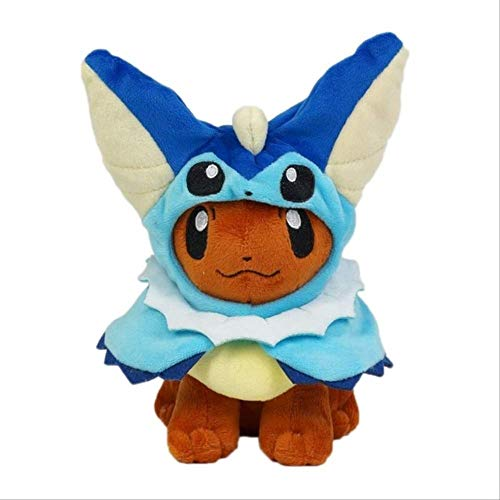 N\A Pokemon Pikachu Vaporeon Eevee Jolteon Umbreon Espeon Sylveon Peluche, Muñecas De Peluche Suaves Regalo para Navidad 27-31CM Vaporeon