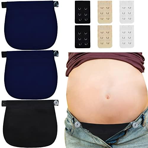 YMIFEEY 3 Stücke Schwanger Hosenerweiterung Einstellbare Taillen Verlängerung Schwangerschaft Hosen Bund Extender elastisch Hosenbunderweiterung Verstellbar für Schwangere Jeans Hosen Pants