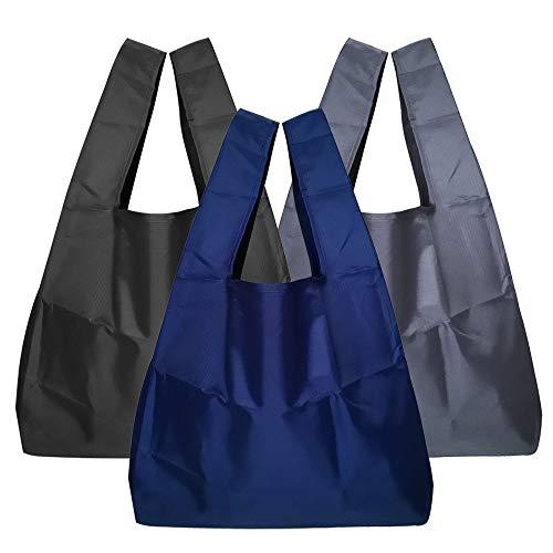 エコバッグ 折りたたみ コンパクト, YABO トートバッグ シュパット エコバッグ コンビニ 人気 3個入大容量繰り返し洗える防水広底 買い物袋 耐荷重20kg コンビニ用 男性 女性用