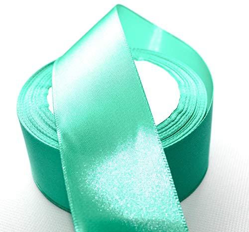CaPiSo 22m Satinband 40mm Breite Schleifenband Geschenkband Dekoband Weihnachten Hochzeit (Tuerkis, 22m)