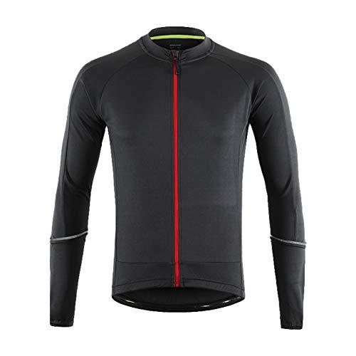 LY4U Maglia da Ciclismo Top da Ciclismo da Uomo a Manica Lunga Quick Dry Traspirante MTB Mountain Bike Shirt Summer Running Abbigliamento da Escursionismo (Grigio Scuro XL)