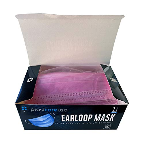 ASTM Level 1 Surgical Masks (Box of 50) (Pink)