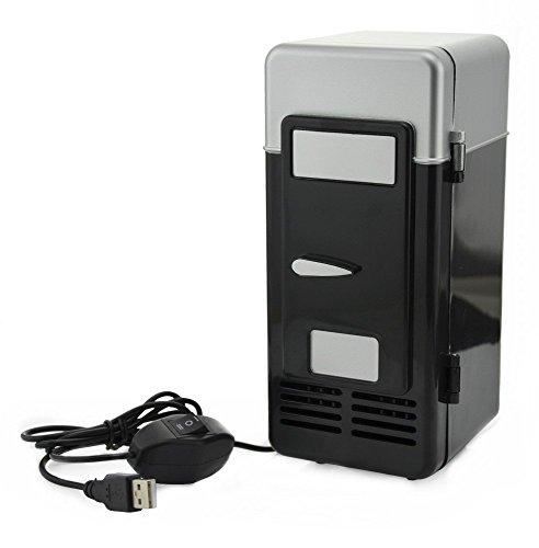 ThreeH USB Minifrigo birra Refrigeratore/Riscaldatore Frigorifero portatile for bevande in lattina H-UF05Black