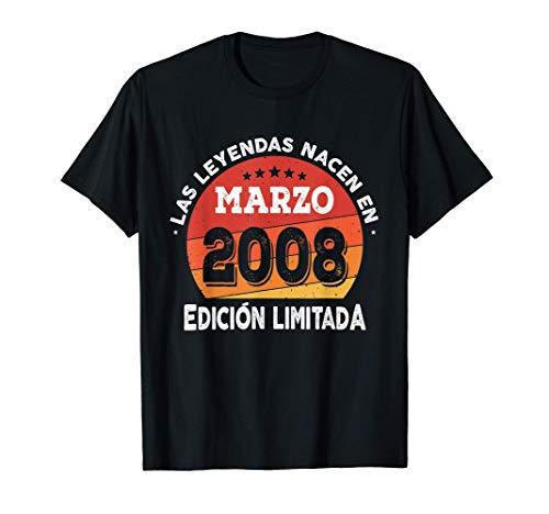 Las Leyendas nacen en Marzo de 2008 - Regalo de 13 años Camiseta