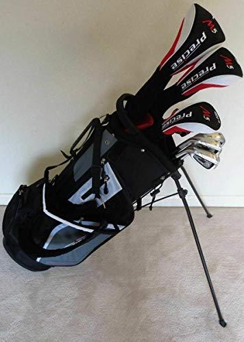 Mens Left Handed Golf Complete Set Driver, Wood, Hybrid, Irons, Wedge, Putter Clubs Deluxe Stand Bag LH Regular Flex