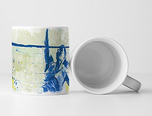 Volleyball Tasse als Geschenk, Design Sinus Art