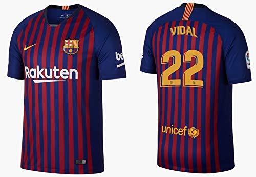 F.C. Barcelona Trikot Herren 2018-2019 Home - Vidal 22 (XXL)