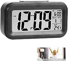 OMZGXGOD Reloj de Alarma Digital, LCD Pantalla Reloj Alarma Inteligente y con Pantalla de Fecha y Temperatura Función...