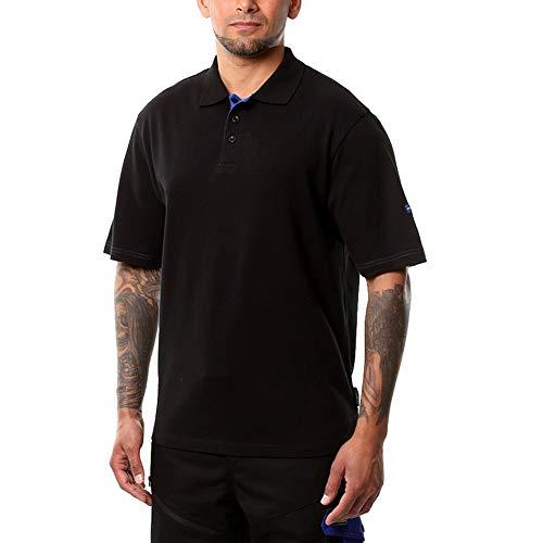 Goodyear GYTS022 Mensarbeits Pique Buttoned Classic leichte Soft-Touch-Polo-Shirt Arbeitskleidung Top, schwarz, groß