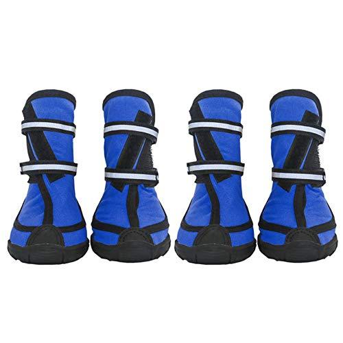 Zapatos de Lluvia Impermeables para Perros Medianos Grandes Botas de Nieve Antideslizantes de Invierno al Aire Libre para Golden Retriever Border Collie Samoyedo,Blue,XS