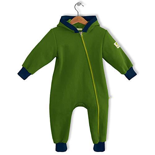 bubble.kid berlin - Made in Germany - Unisex Baby Mädchen Jungen Overall – weicher Sweatshirt, Addo (74-80, Apfel)