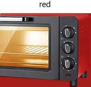 L.TSA Cocina Mini Hornos domésticos 15L Capacidad Máquina de cocción Multifuncional Horno eléctrico Temporizador para Hornear 60Min Pizza Pan Tostador, Negro