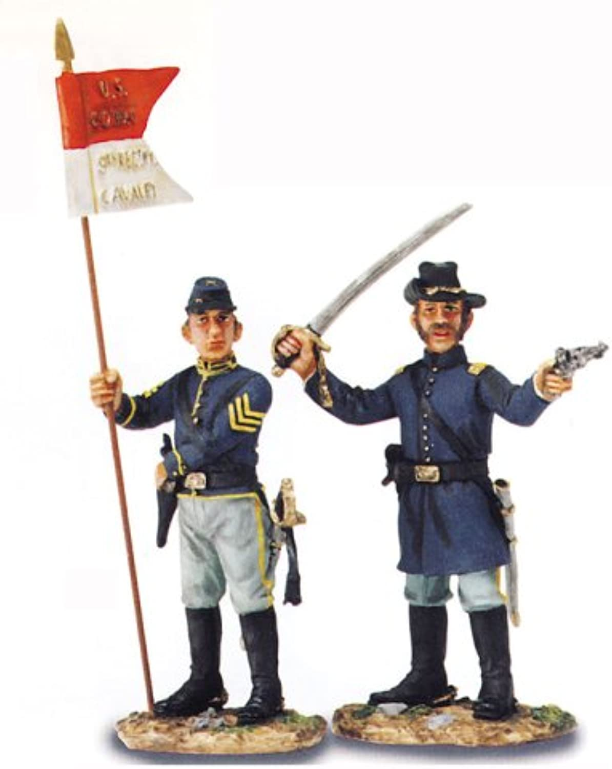 American Civil War - Company Officer and Guidon Bearer, Union Cavalry (17566)