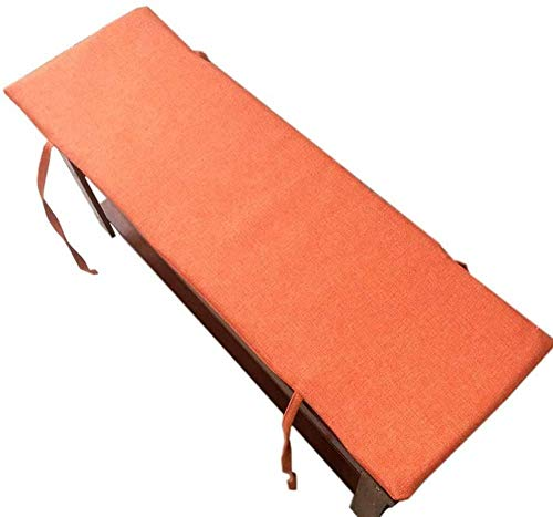 Cushions for Outdoor Seats Cushion for Long Bench Cushions for Windows Seats Cushions for Garden pallets Cushions for Garden Furniture (Dark Gray 150x40 cm)-Orange_150x45cm Excellent