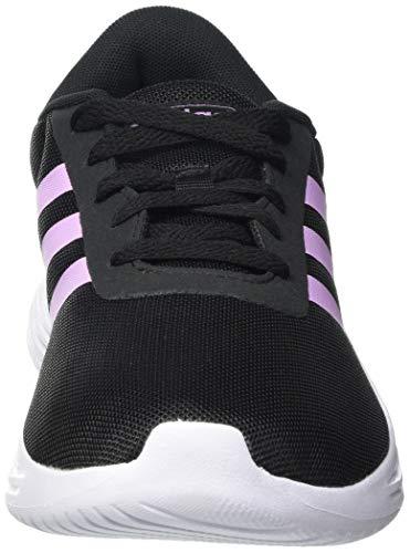 adidas Lite Racer 2.0, Sneaker Mujer, Core Black/Clear Lilac/Footwear White, 37 1/3 EU