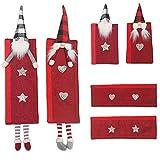 Decoración de Navidad para la cocina, 3 pares de asas de nevera, decoración para el polvo de la puerta
