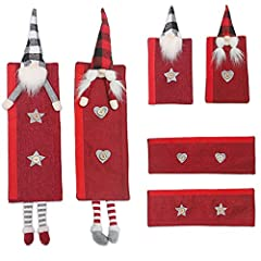 Weihnachts-Küchendekoration, niedliche 3 Paar Kühlschrankgriff-Dekor